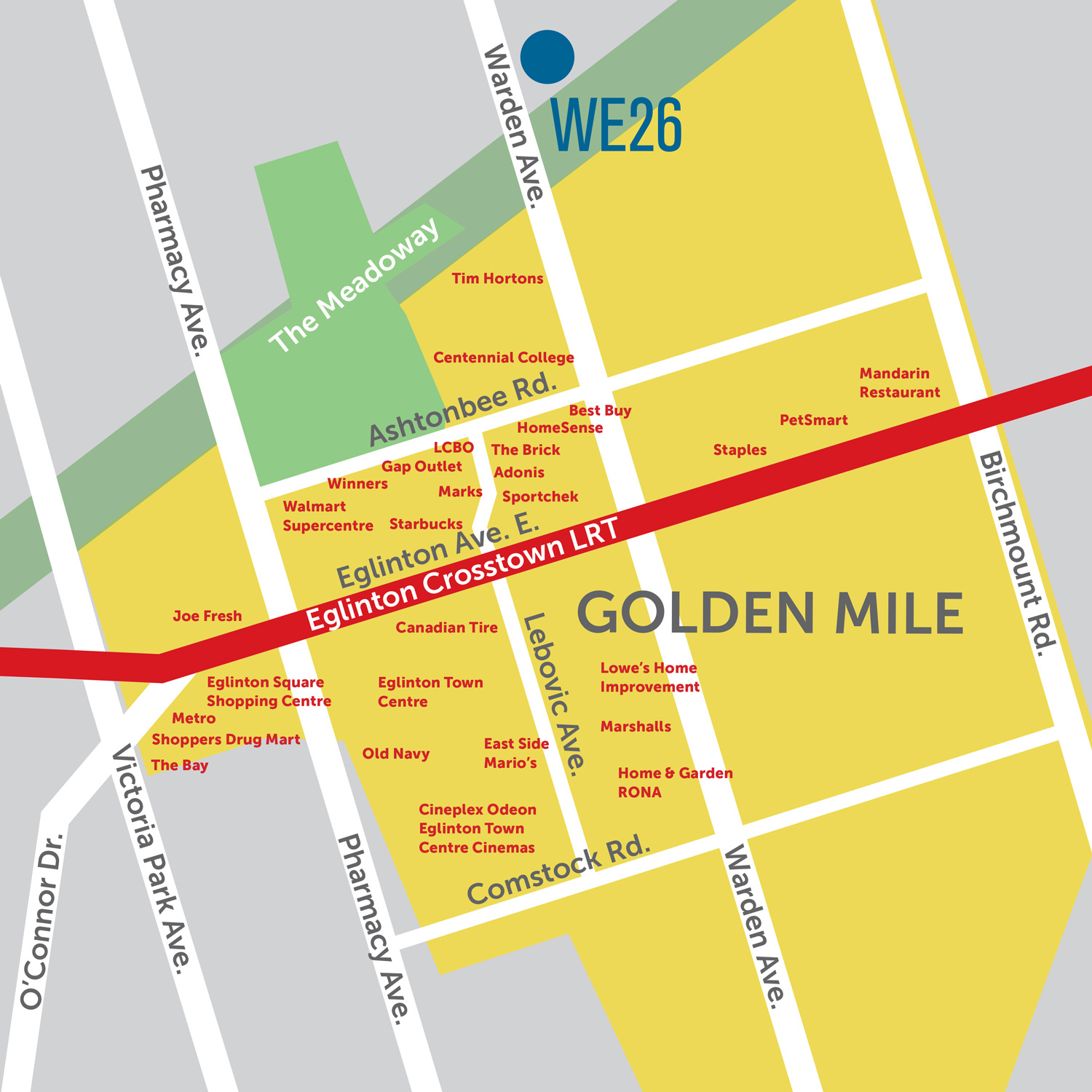 The Golden Mile Map